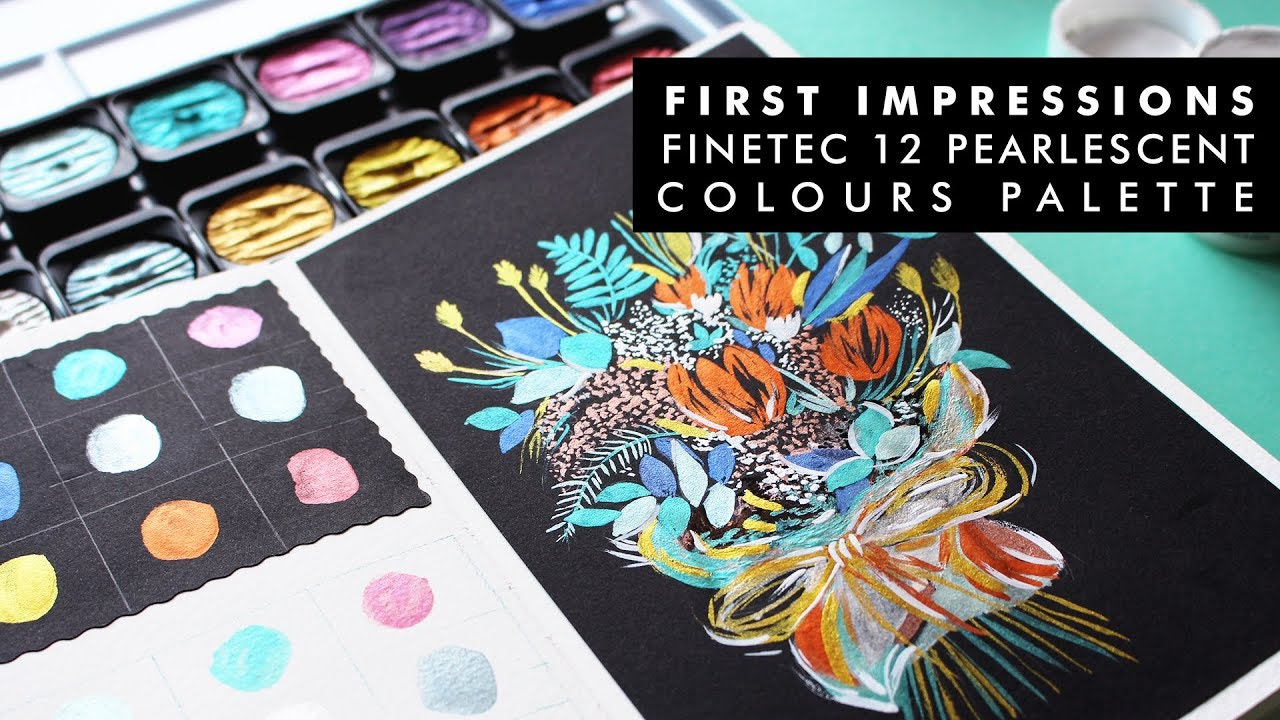 FINETEC 12 PEARLESCENT COLOURS FIRST IMPRESSIONS - YouTube
