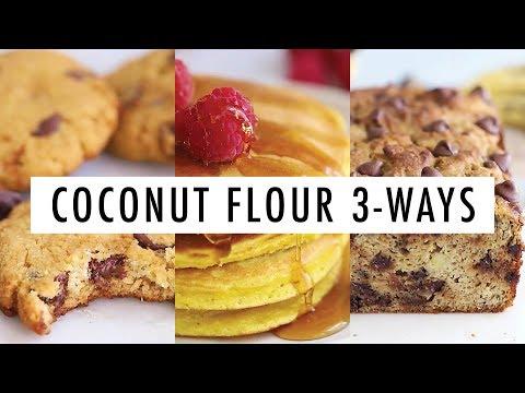 Coconut Flour 3 Ways: Pancakes, Banana Bread & Cookies