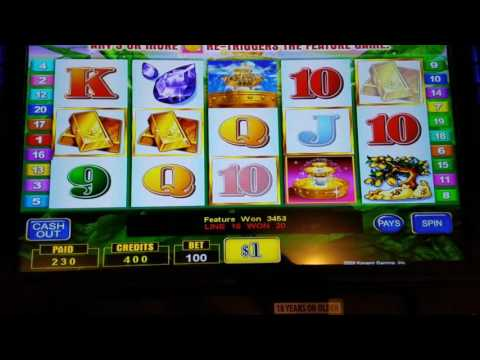 Lucky Fountain slot $100 max bet high limit bonus free spins jackpot handpay