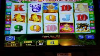 Lucky Fountain slot $100 max bet high limit bonus free spins jackpot handpay