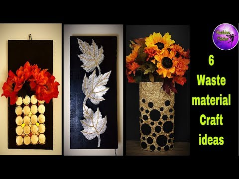 6 waste material craft ideas | room decor | diy crafts | Fashion pixies