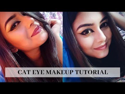 HOW TO DO A MODERN CAT EYE??   BOLD CAT EYE MAKEUP TUTORIAL INDIA   Arpita Ghoshal thumbnail