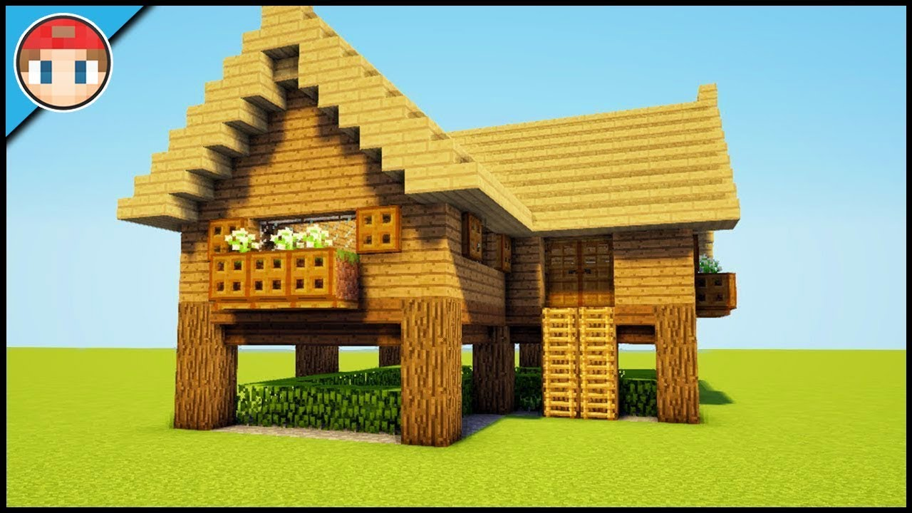 Minecraft Starter House Tutorial How To Build An Easy House Youtube