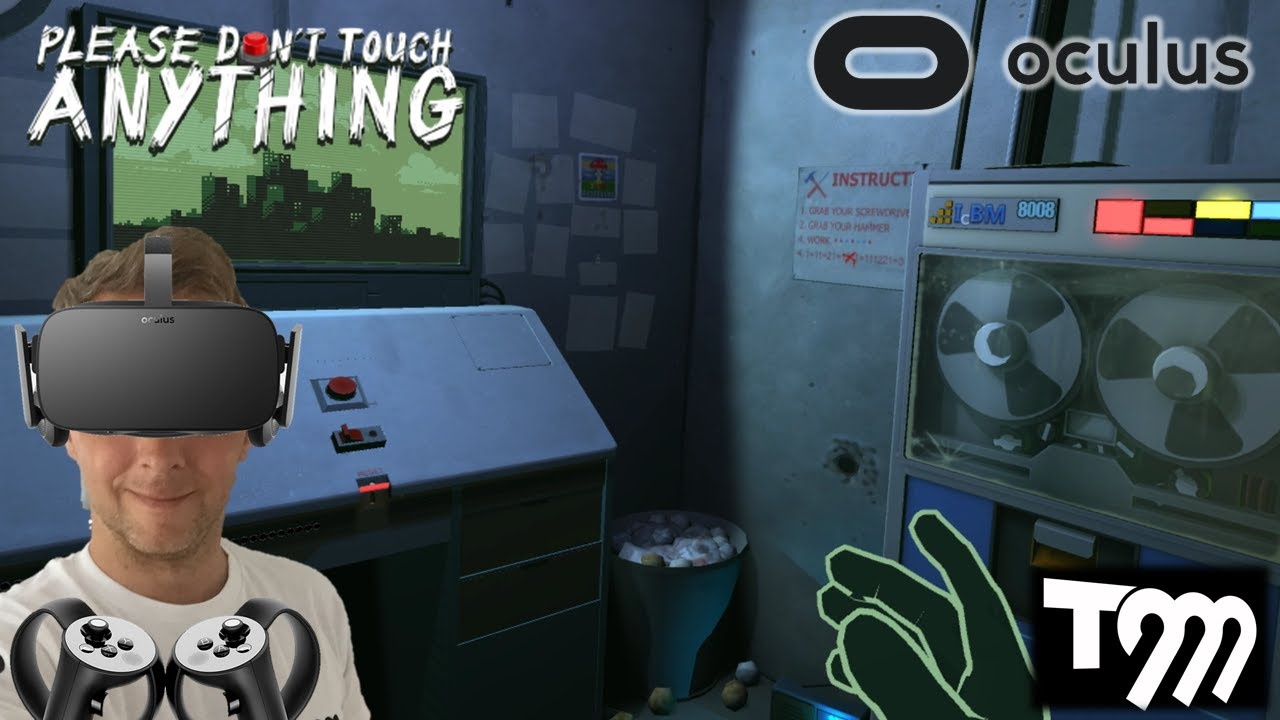 BIG RED BUTTON!! | Please, Don't Touch Anything VR (Oculus Rift VR + Touch  Gameplay)