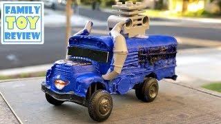 Custom Disney Cars - How to Make a Miss Fritter FORTNITE Bus - GIANT Balloon Bus - DIY Kids Learning