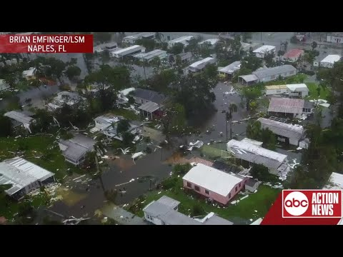 Drone video shows aftermath of Irma in Naples