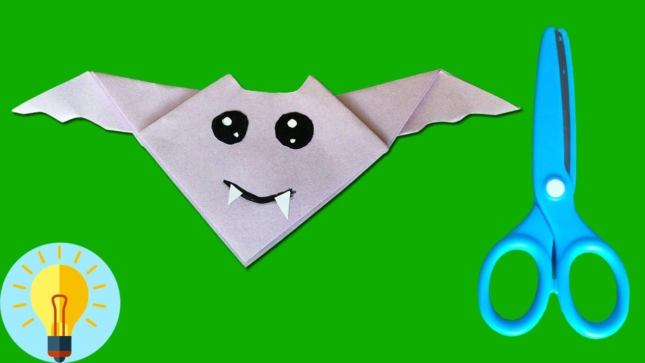 Basteln Mit Papier Fledermaus Falten Diy Bastelideen Youtube