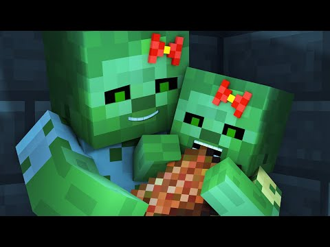 Zombie vs Villager Life 4 - Alien Being Minecraft Animation