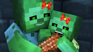 zombie vs villager life 4 alien being minecraft animation