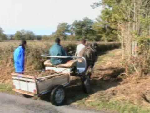 évacuation des gravats avec la mule pirate vers les chemins