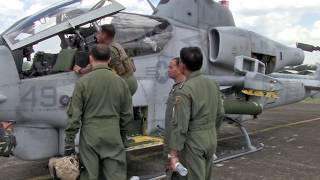 Philippine Air Force Pilot Perform Flight Test of AH-1W SuperCobra Attack Helicopter
