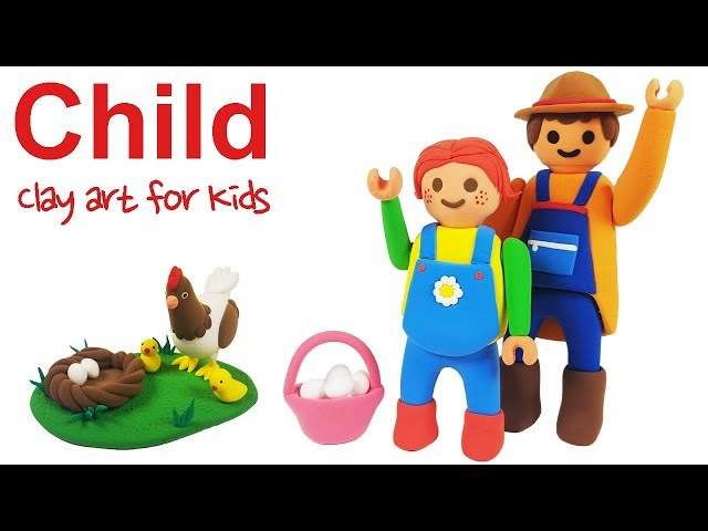 Clay Child For Kids | How To Make A Clay Child | Clay modeling