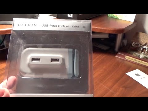 Belkin 4-Port USB Plus Hub Unboxing and Setup