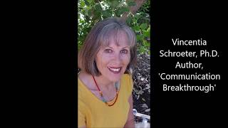 Vincentia Schroeter, Ph.D., Author, 'Communication Breakthrough' Speaking at Book Launch
