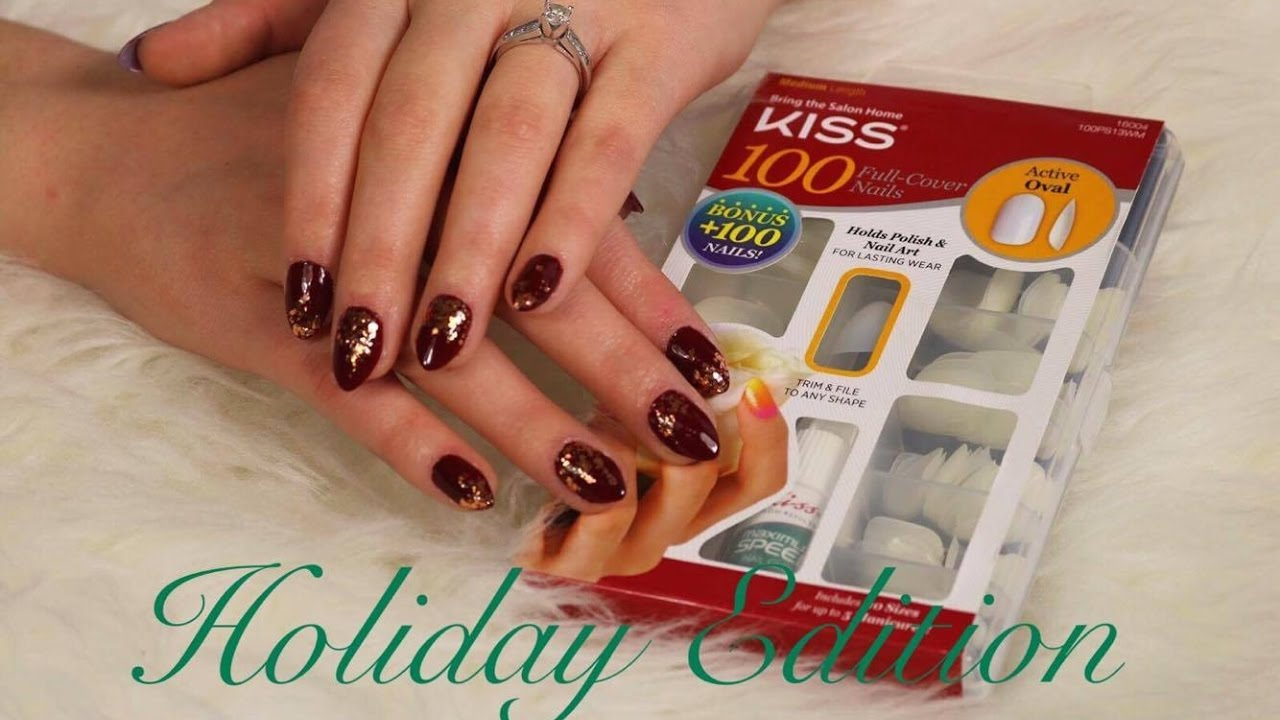 DIY Easy Fake Nails | Kiss Active Oval Full Cover Nails - YouTube