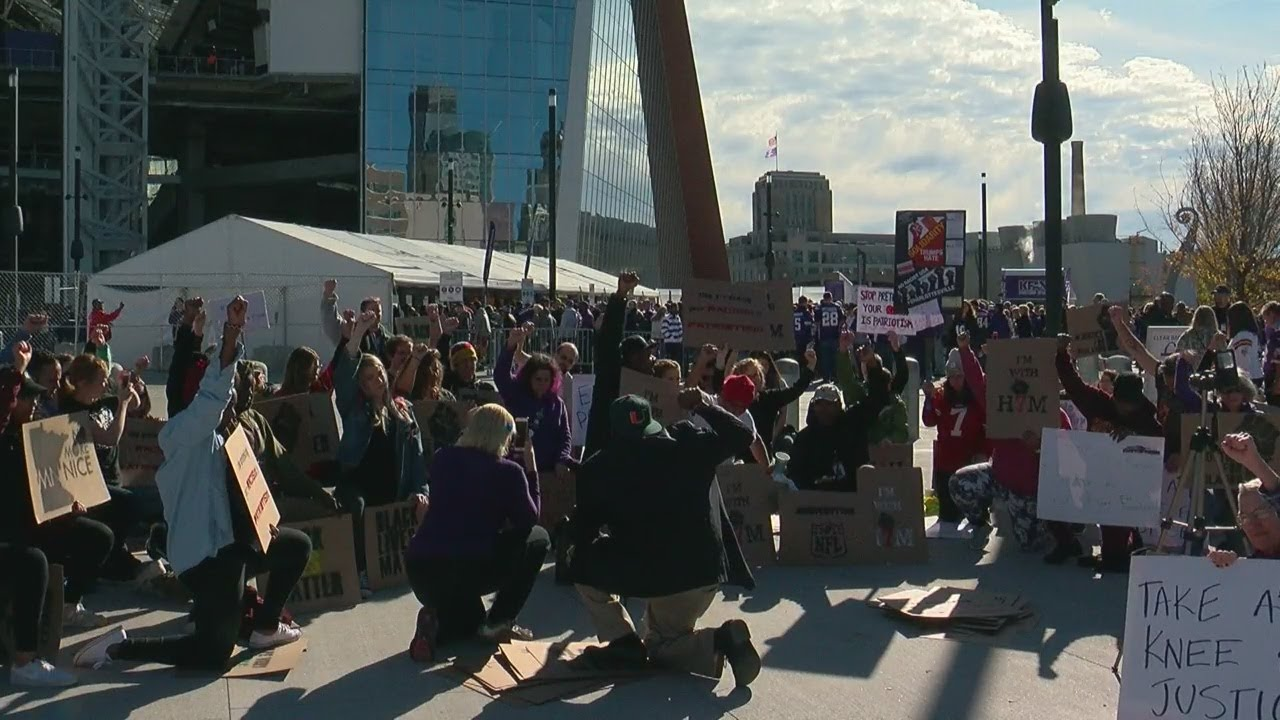 Ahead Of Vikings Game, Protesters Take A Knee Against Police Violence