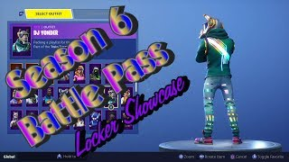 Fortnite Season 6 Battle Pass Locker Showcase
