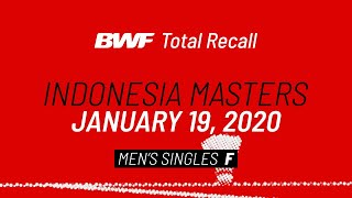 BWF Total Recall | Indonesia Masters 2020 | Men's Singles F | BWF 2020