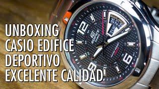 Unboxing Casio Edifice EF129D-1AV Reloj Analógico de Cuarzo en Español