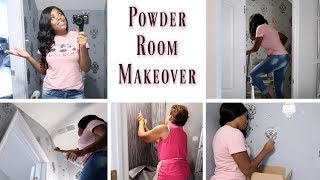 💙Glam Home💙 DECORATING | POWDER ROOM MAKEOVER | HOME TRANSFORMATION