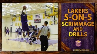 Lakers 5 On 5 Scrimmage Footage Kobe Nash Nick Young Trash Talk