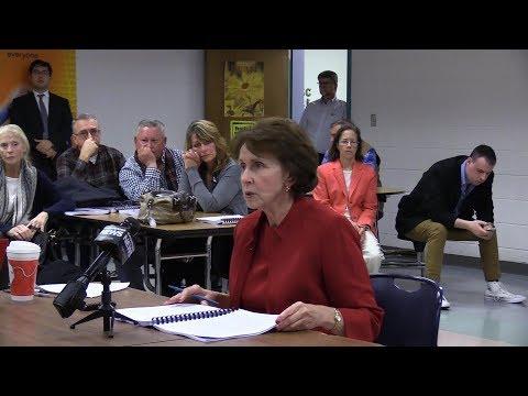 Rep. Patrica Morgan Speaks At RIDOT Environmental Assessment Meeting