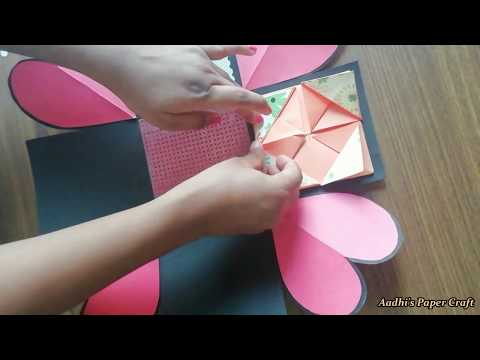 How to make Explosion box / DIY Valentine's Day Explosion Box /Explosion Box Tutorial / Part - 1