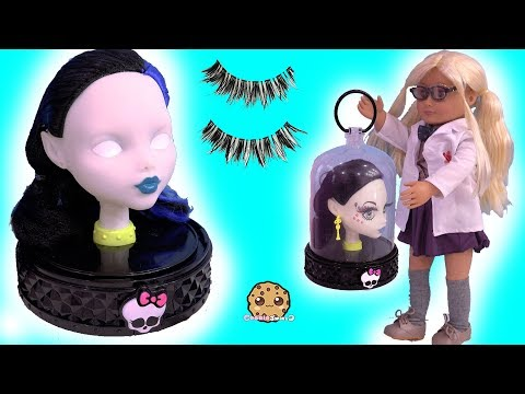 Makeup  Face Makeover On Monster High Style Head ! Toy