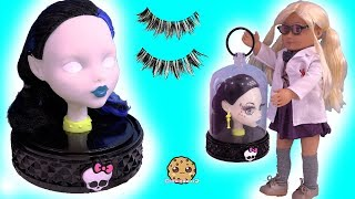 ‪Makeup / Face Makeover On Monster High Style Head ! Toy Video‬‏