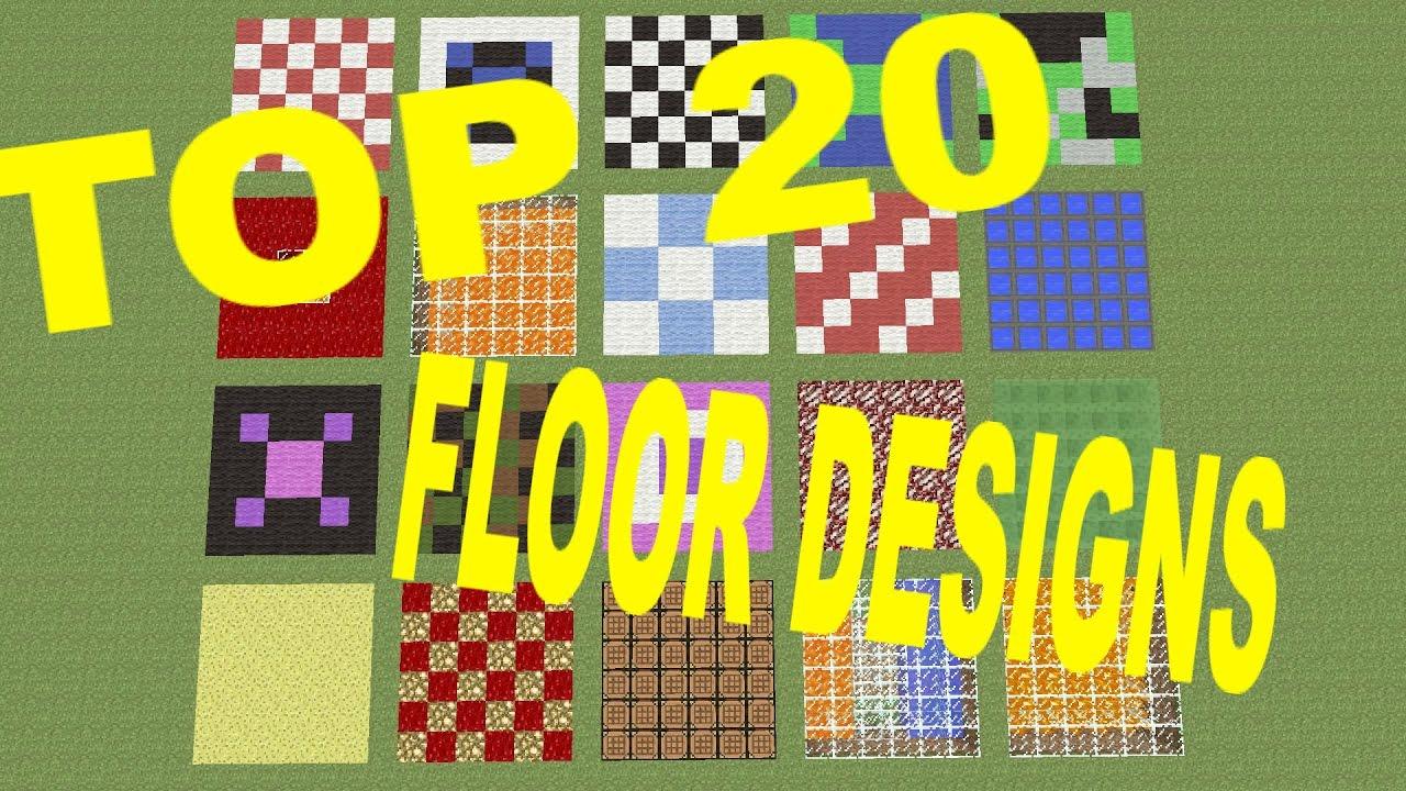 Minecraft Top 20 Best Floor Designs Worlds Best Easy To Make