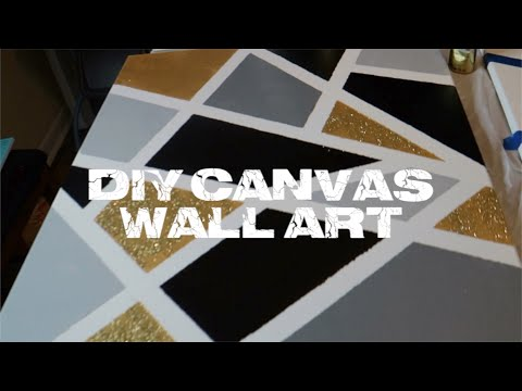 DIY: CANVAS WALL ART | SIMPLE & EASY