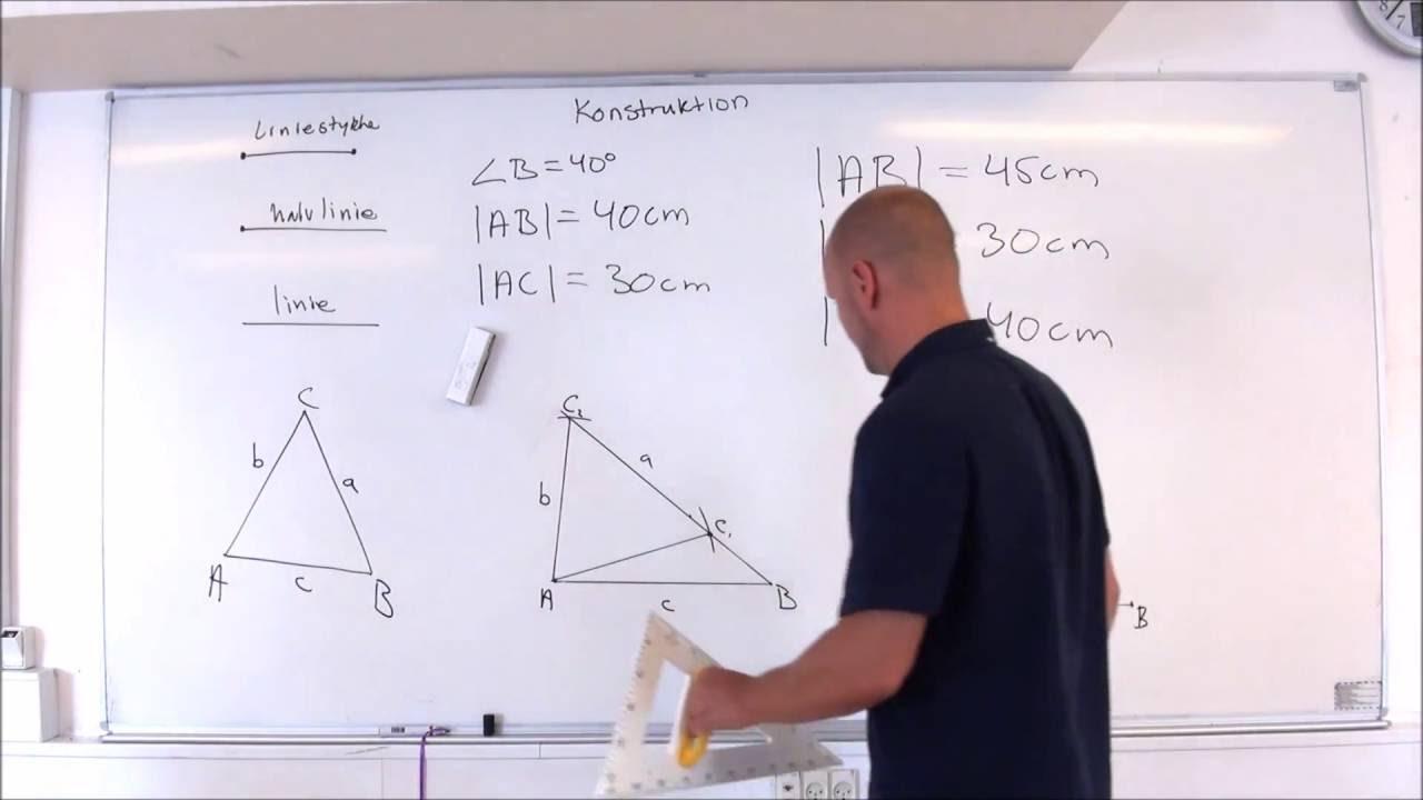 Konstruktion - efter tekstanvisning - Matematik FED