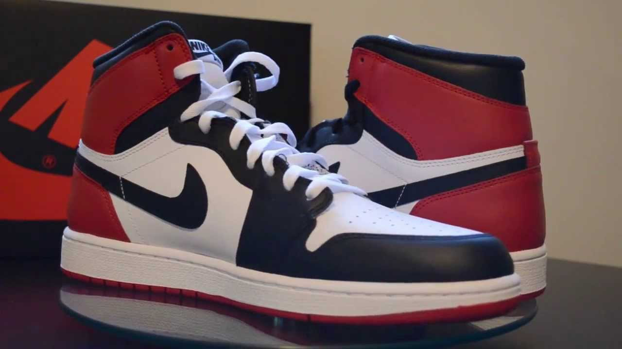 cheaper c9abf 66322 Air Jordan I - Black Toe 2013 OG Retro Black and White Laces Shown ...