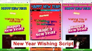 Happy New Year Wishing Script for Blogger and Wordpress