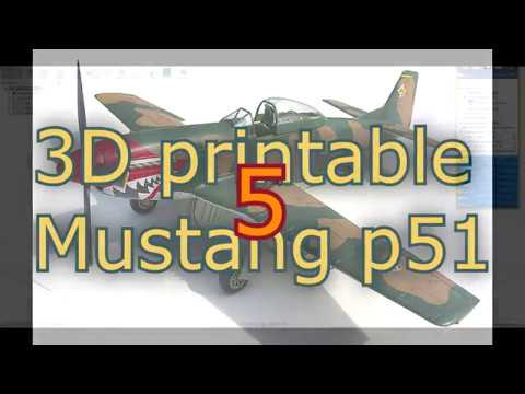 PART 5/10, 3D printable Mustang p51 design in Fusion 360