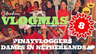 🎄Vlogmas Day 8 First Pinayvloggers CHRISTMAS Party | Dames in Netherlands | Filipino Dutch Couples