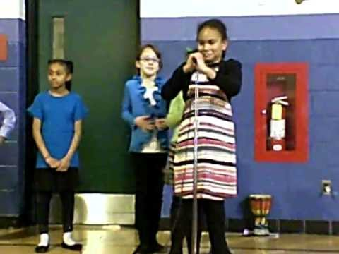 "Bingham Farms Elementary School - Peace March 2012 - Mrs. Halverson's Class ""I See"""