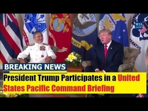 Breaking News Today 11/4/17, President Trump Participates in US Pacific Command Briefing