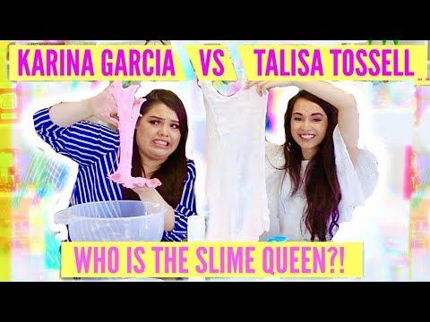 KARINA GARCIA VS TALISA TOSSELL// 30 Second Slime Challenge, Making Slime Backwards SLIME QUEEN WAR