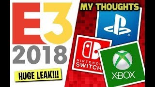 E3 2018 ALL UPCOMING GAMES AND LEAKS + My Thoughts (XBOX PS4 PC)