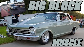 565 BIG BLOCK, ALL MOTOR CHEVY 2 NOVA WAS TRYING TO FIGURE SMALL TIRE RACING OUT FOR THE 1ST TIME