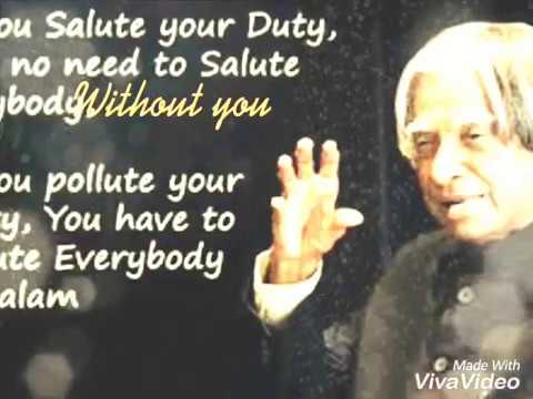 Most Inspiring Thoughts By Abdul Kalam YouTube Adorable Inspirational Thoughts