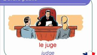 French Lesson 120 - Law and order Justice Vocabulary - L