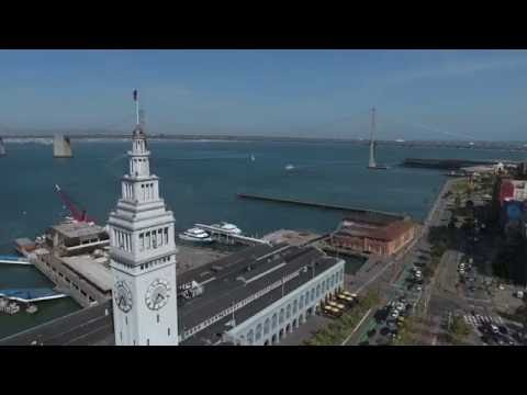 San Francisco - Ferry Building Drone Video