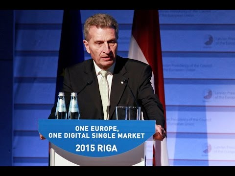 Digital Assembly. Günther Oettinger, Commissioner for Digital Economy and Society, 18 June