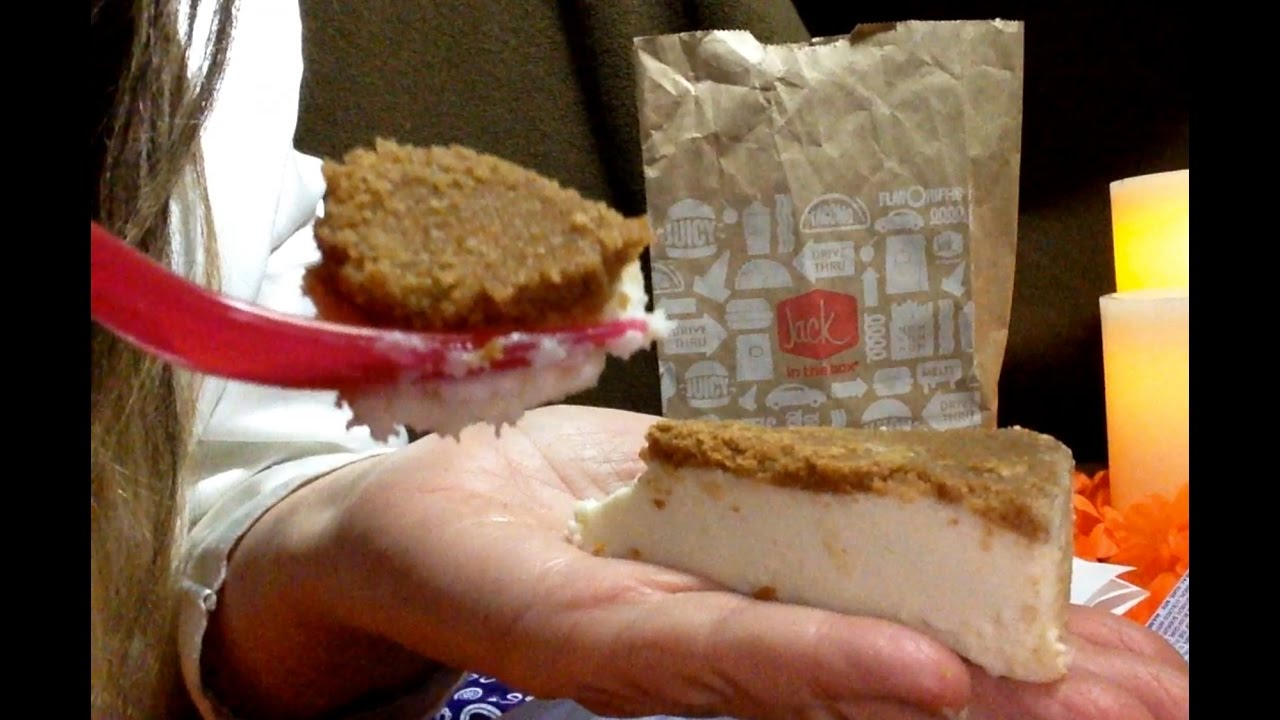 Jack in The Box Cheesecake!! 🍰🍰🍰 Review, Info, Soft Spoken ...