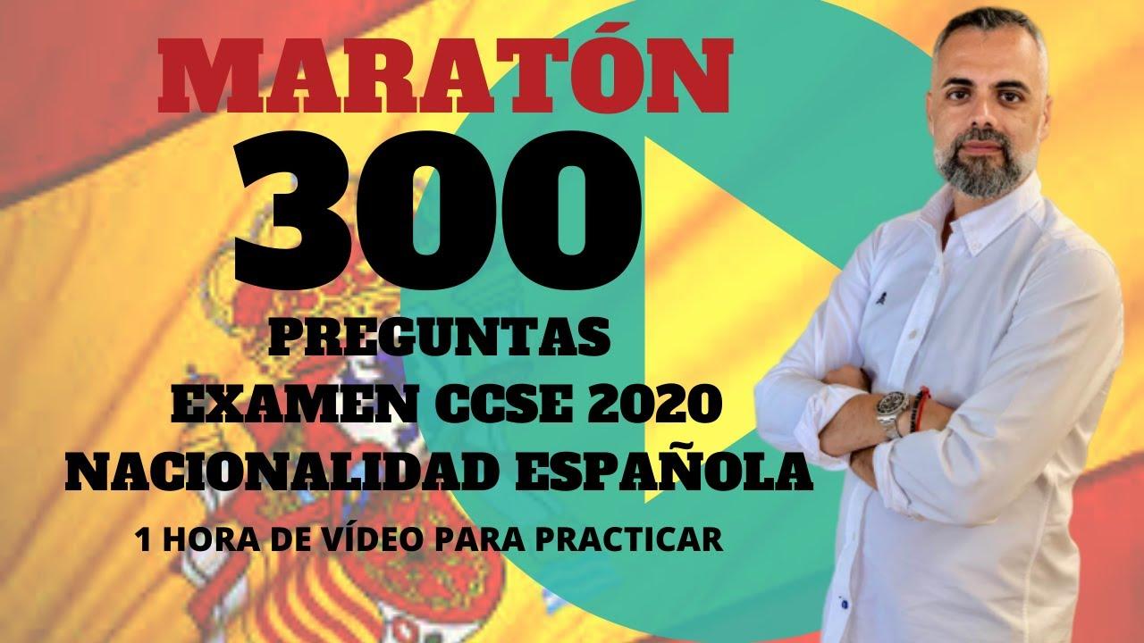 300 Preguntas Examen Nacionalidad Espanola Ccse 2020 Youtube