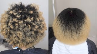 VERY DETAILED Blowdry  Trim On Natural Hair SalonWork