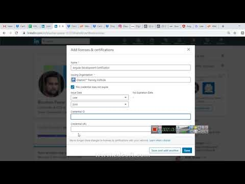 Adding Certificate To LinkedIn Profile On 2019 LinkedIn Current Interface