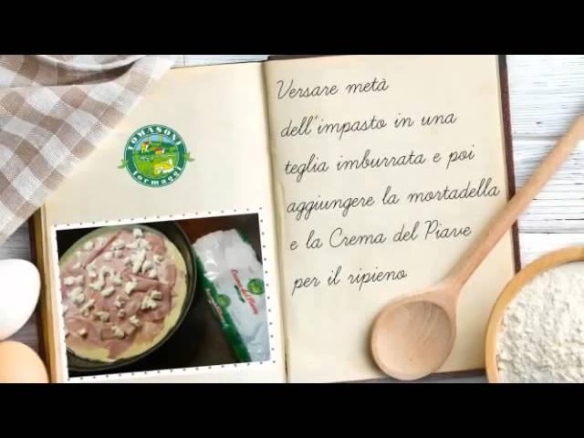 Video Ricetta Focaccia Salata con Crema del Piave Tomasoni